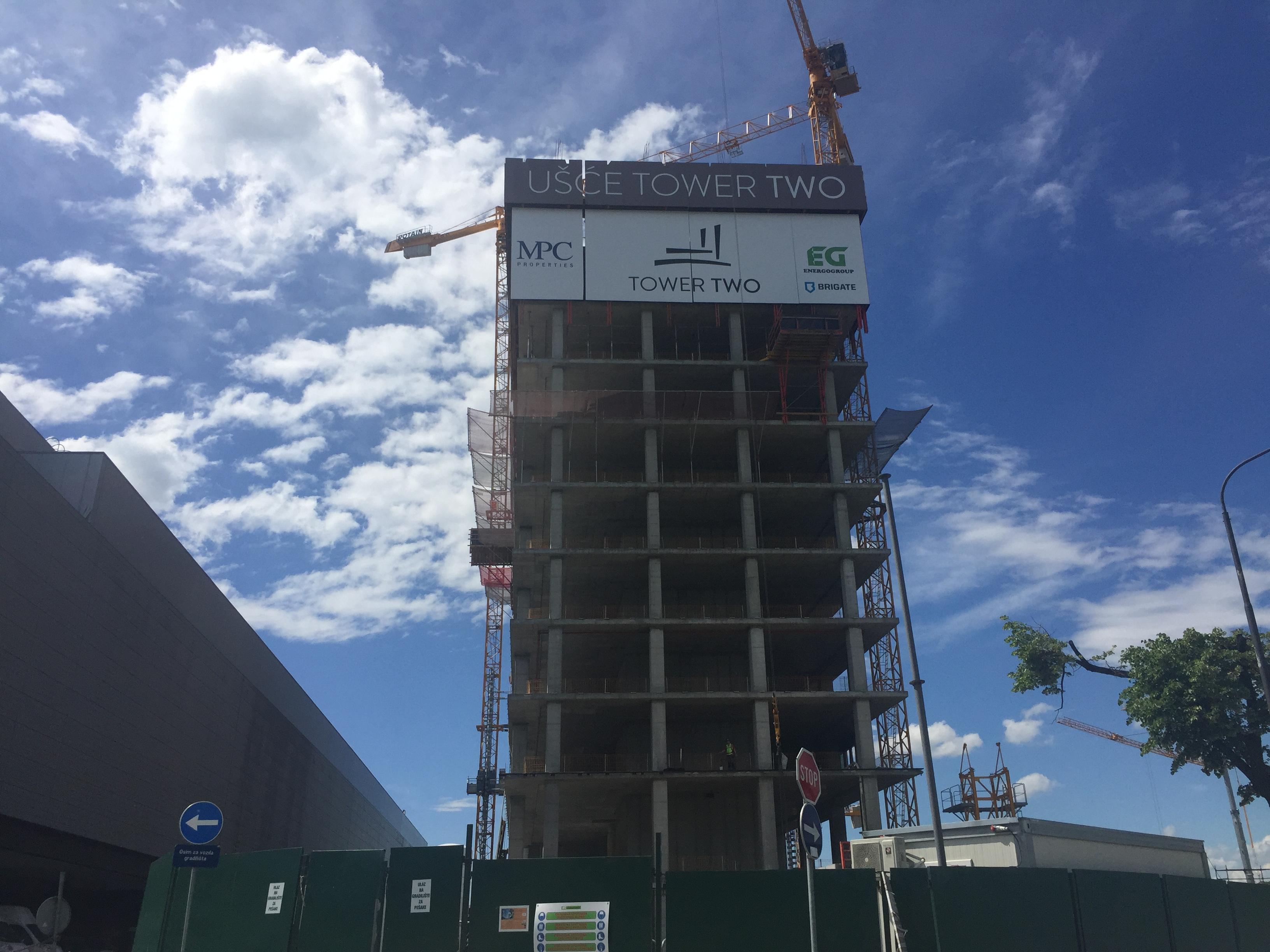 Nastavlja se izgradnja UŠĆE TOWER 2